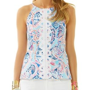 Lilly Pulitzer Annabelle halter top size 6